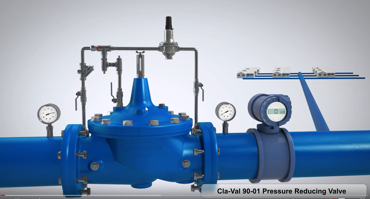 CLA-VAL 90-01 Pressure Reducing Valve 3D Animation